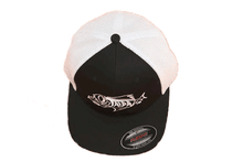 Load image into Gallery viewer, BLACK FITTED TRUCKER HAT