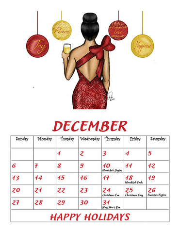 Digital Download ( December Calender
