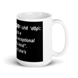 She's Dope Defined White Mug