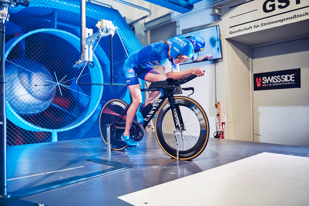 Laura Philipp new aero technology launch with Swiss Side