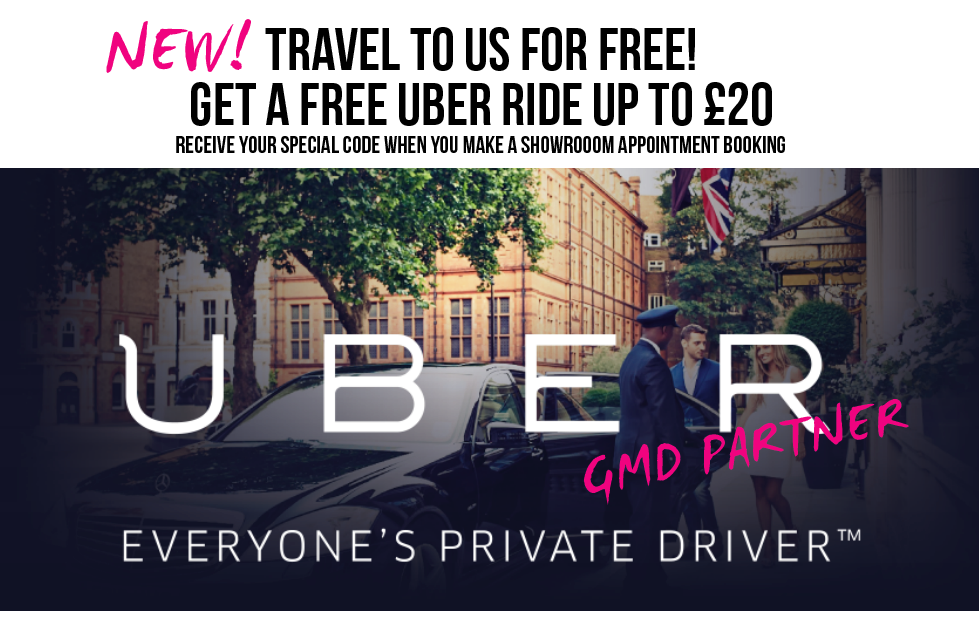 Free Uber Ride to Showroom Appointments
