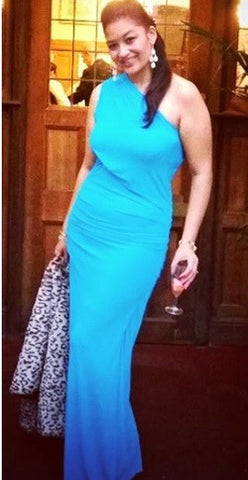 GORGEOUS COUTURE - The Bailey Maxi Turquoise - Designer Dress hire