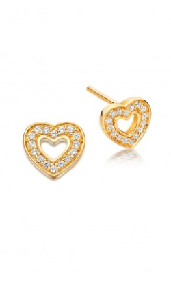 ASTLEY CLARKE - Mini Heart Biography Stud - Designer Dress hire
