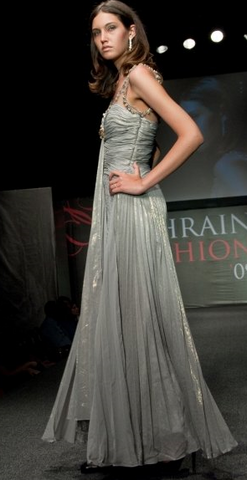 OMAR MANSOOR - Beaded Strap Gown - Designer Dress hire