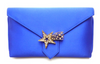 WILBUR AND GUSSIE - Charlie Clutch - Blue - Designer Dress hire
