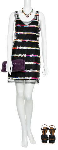 MARC JACOBS - Rainbow Paillette Dress - Designer Dress hire