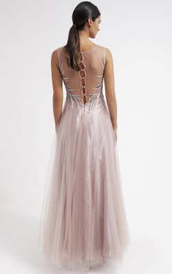 UNIQUE - Armelle Blush Gown - Designer Dress hire