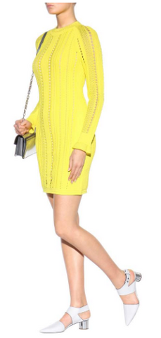 3.1 PHILLIP LIM - Yellow Knit Dress - Designer Dress hire