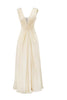 ARIELLA - Anelia Satin Champagne Gown - Designer Dress hire