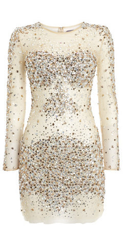 JOVANI - Nude Sequin Dress - Designer Dress hire