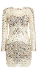 JOVANI - Nude Sequin Dress - Rent Designer Dresses at Girl Meets Dress