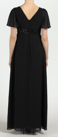 ARIELLA - Ava Chiffon Gown Black - Designer Dress hire