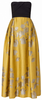 QUIZ - Gold Chiffon Sequin Maxi Dress - Designer Dress hire