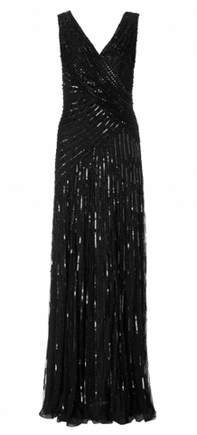 Juliet Sequin Gown Black