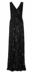 ARIELLA - Juliet Sequin Gown Black - Rent Designer Dresses at Girl Meets Dress