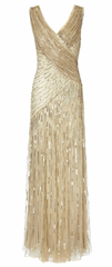 ARIELLA - Juliet Sequin Gown Gold - Rent Designer Dresses at Girl Meets Dress