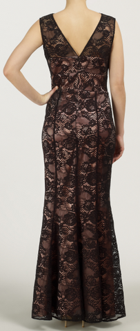 ARIELLA - Tania Long Lace Dress - Designer Dress hire