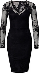 AX PARIS - V Front Lace Back Dress - Designer Dress Hire