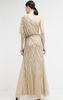 ADRIANNA PAPELL - Art Deco Shoulder Gown - Designer Dress hire