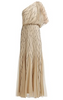 RUTH TARVYDAS - Feather Shoulder Dress - Designer Dress hire