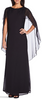 ADRIANNA PAPELL - Cape-Style Black Dress - Designer Dress hire