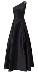 ADRIANNA PAPELL - Faille Drape Gown - Rent Designer Dresses at Girl Meets Dress