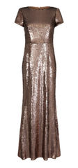 ADRIANNA PAPELL - Metallic Sequin Mermaid Gown - Designer Dress Hire