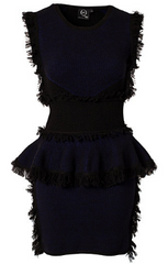 McQ ALEXANDER MCQUEEN - Fringe Peplum Dress - Rent Designer Dresses at Girl Meets Dress