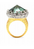 ALEXIS BITTAR - Gold Crown Ring - Designer Dress hire