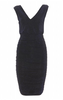 HOTSQUASH - Silky Black Cowl Gown - Designer Dress hire