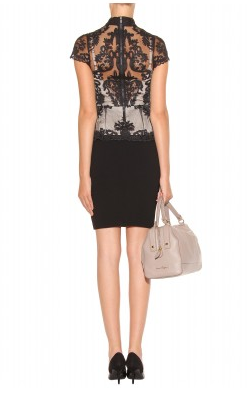 ALICE AND OLIVIA - Chantilly Lace Peplum Dress - Designer Dress hire