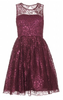 DARK PINK - Susie Lace Maxi Dress - Designer Dress hire