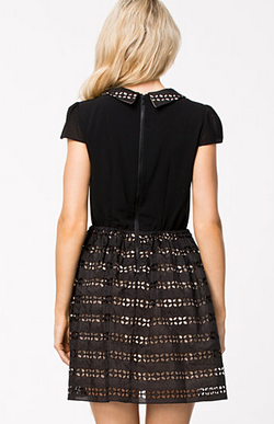 ALICE AND OLIVIA - Black Una Dress - Designer Dress hire