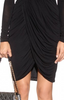 ALICE BY TEMPERLEY - Draped Black Dress - Designer Dress hire
