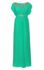 QUIZ - Green Sequin Diamante Dress - Designer Dress hire