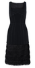 HALSTON HERITAGE - Black Chalk Cocktail Dress - Designer Dress hire