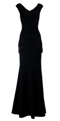 AMANDA WAKELEY - Niara Scuba Gown Black - Designer Dress Hire