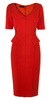 ADRIANNA PAPELL - Persimmon Red Cocktail Dress - Designer Dress hire