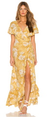 AMUSE SOCIETY - Frill Seeker Maxi Dress - Designer Dress Hire