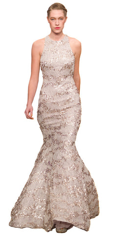 Sequin Fishtail Gown