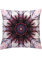 ANJALI HOOD - Java Sparrow Velvet Cushion - Designer Dress Hire