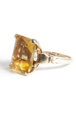 KNIGHTSBRIDGE ROCKS - Antique Citrine Cocktail Ring - Designer Dress hire