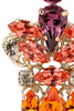 ANTON HEUNIS - Crystal Cluster Earrings - Designer Dress hire