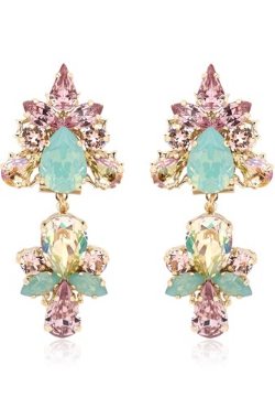 ANTON HEUNIS - Double Flower Earrings - Designer Dress hire