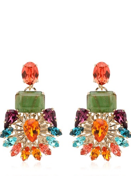 ANTON HEUNIS - Flower Motif Earrings - Designer Dress hire