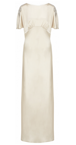 Anelia Satin Champagne Gown