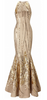 ADRIANNA PAPELL - Champagne Cocktail Dress - Designer Dress hire