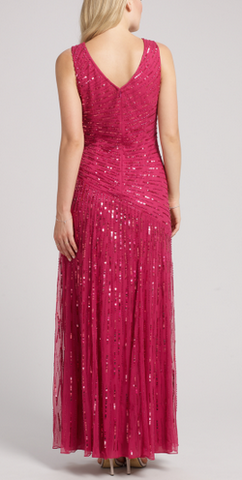 ARIELLA - Juliet Sequin Gown Red - Designer Dress hire