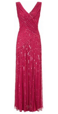 Juliet Sequin Gown Red