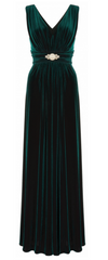 ARIELLA - Milo Velvet Emerald Gown - Designer Dress Hire